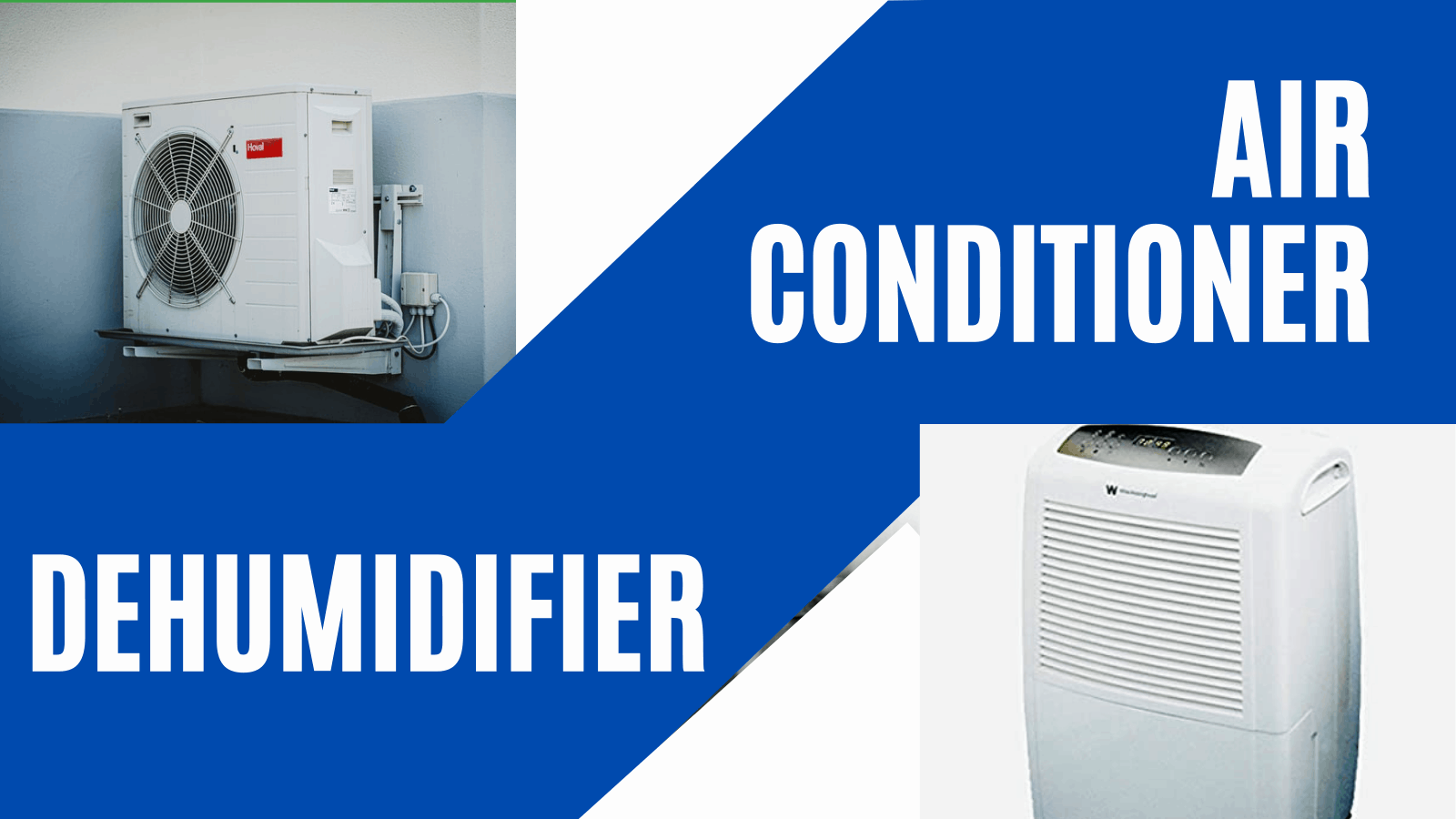 What are the differences between air conditioners and dehumidifiers?